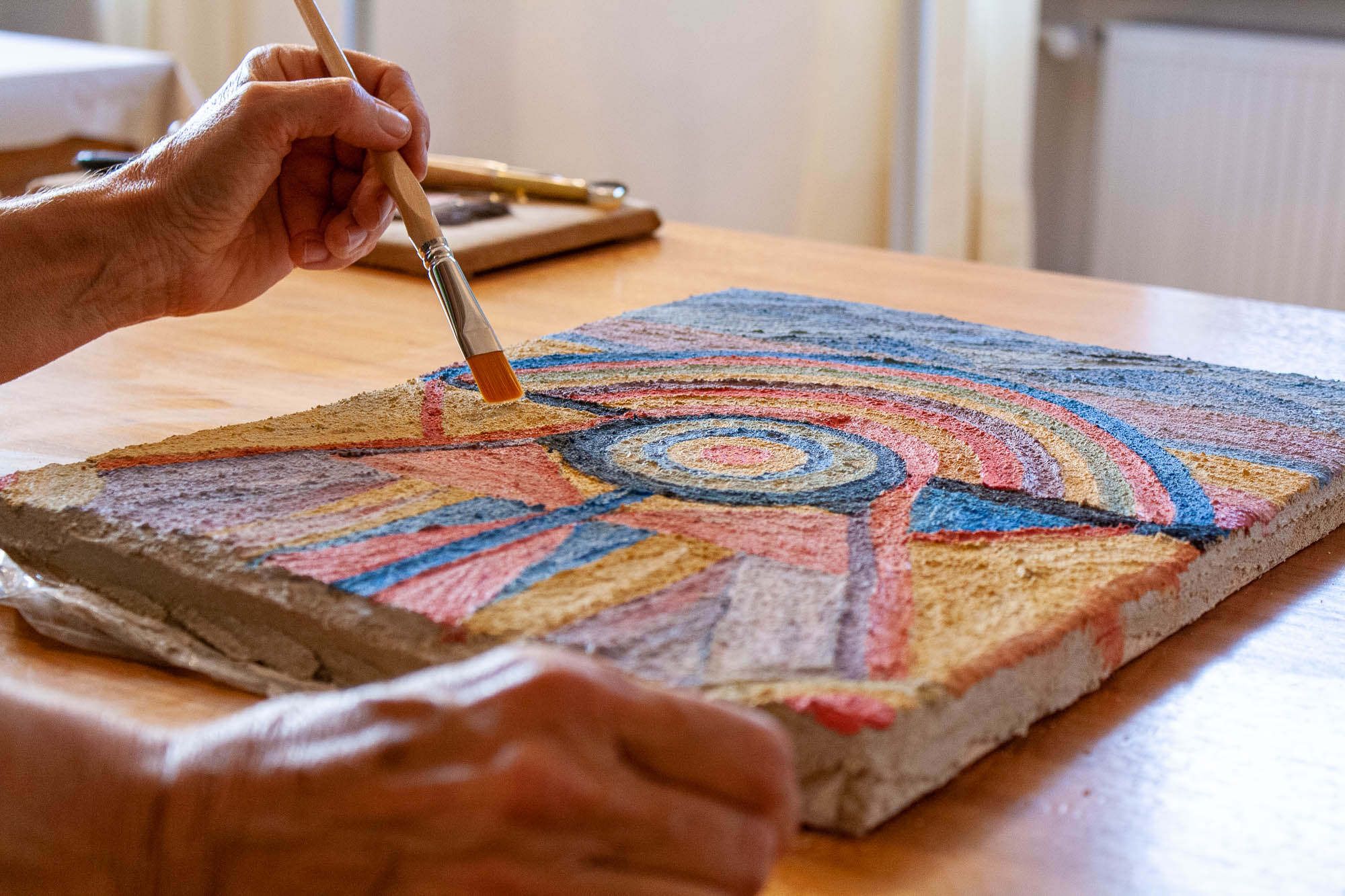 Malen eines Freskos