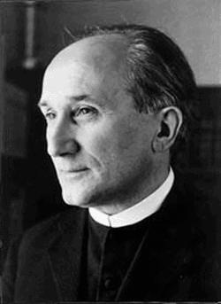 schwarz-weiß Aufnahme Romano Guardini um 1920